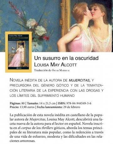 Libro «Un susurro en la oscuridad» de Louisa May Alcott - Prepu