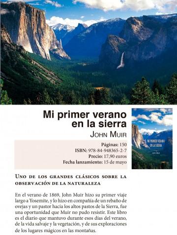 Prepublicación libro Mi primer verano en la sierra